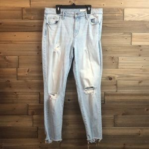 ⭐️ Treasure Bond High Rise Raw Hem Jeans Size 29⭐️
